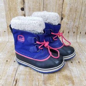 Sorel Kids Winter Boots Waterproof Purple Pink 11